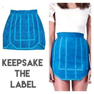 KEEPSAKE the Label See the World Lace Pencil Skirt